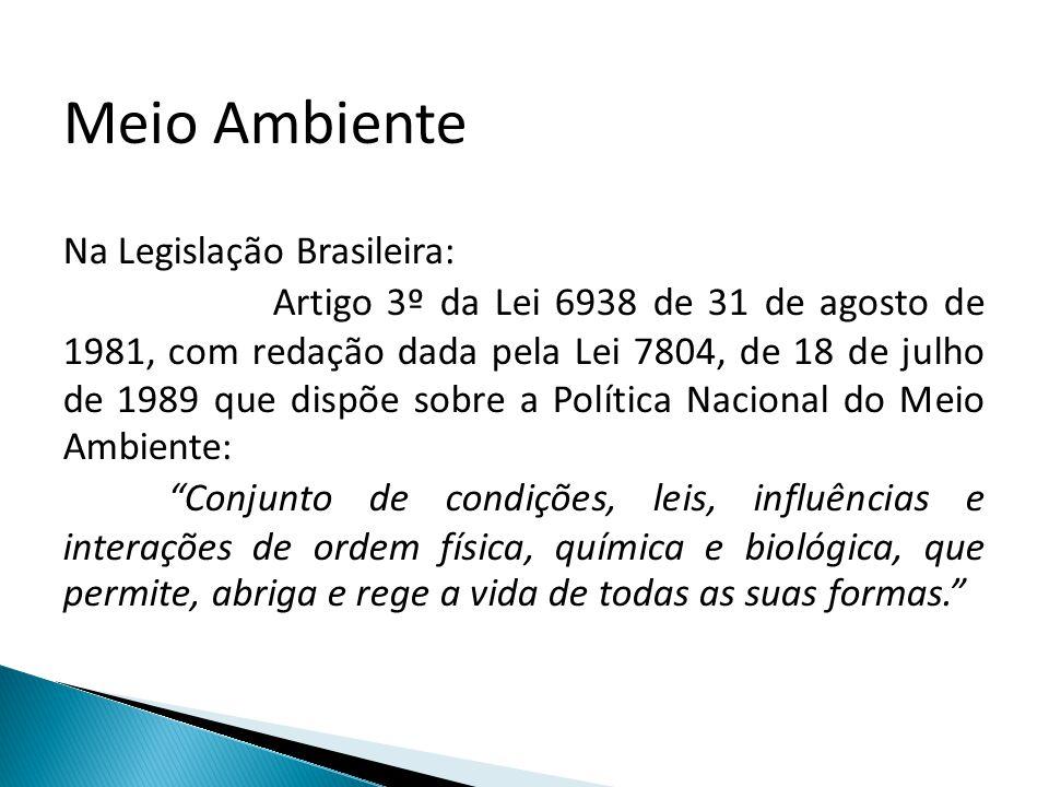 Meio Ambiente Na Legislação Brasileira: