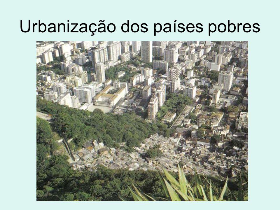 Urbanização dos países pobres