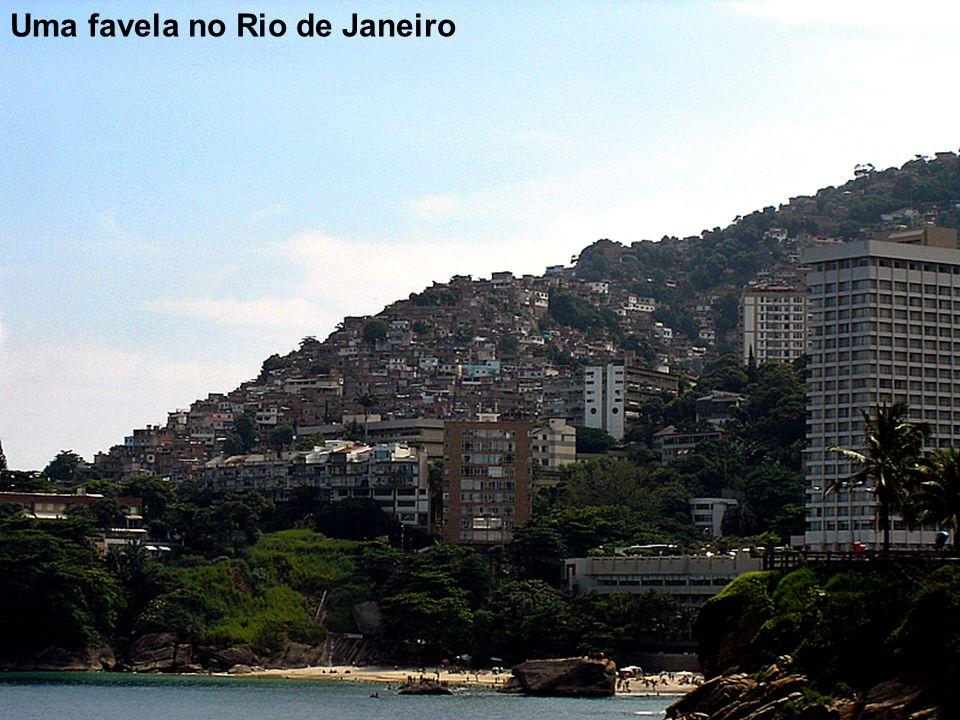 Uma favela no Rio de Janeiro