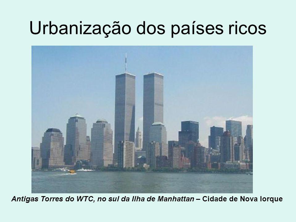 Urbanização dos países ricos
