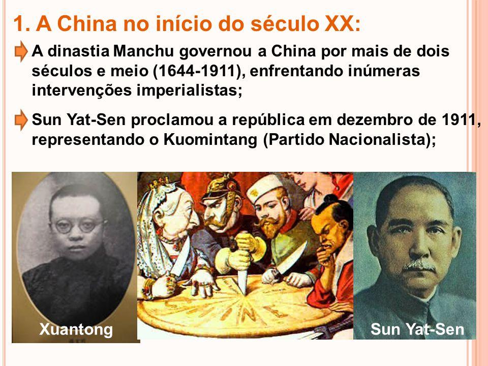 1. A China no início do século XX:
