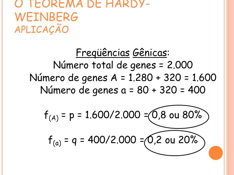 O TEOREMA DE HARDY-WEINBERG APLICAÇÃO