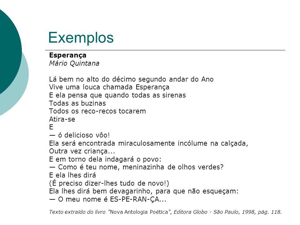 Exemplos Esperança Mário Quintana
