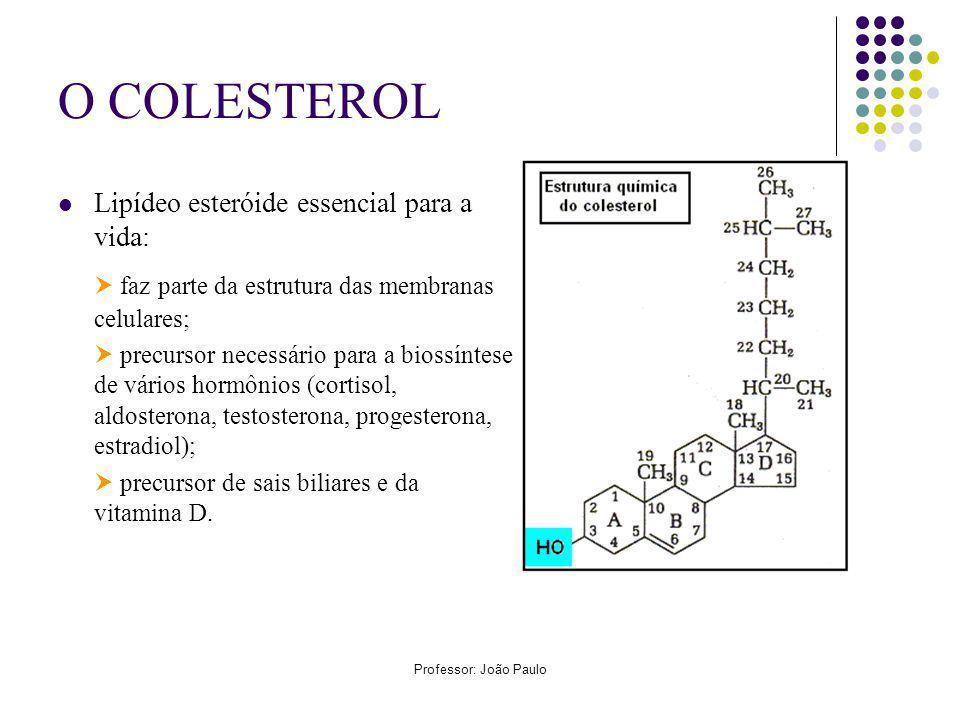 O COLESTEROL  faz parte da estrutura das membranas celulares;