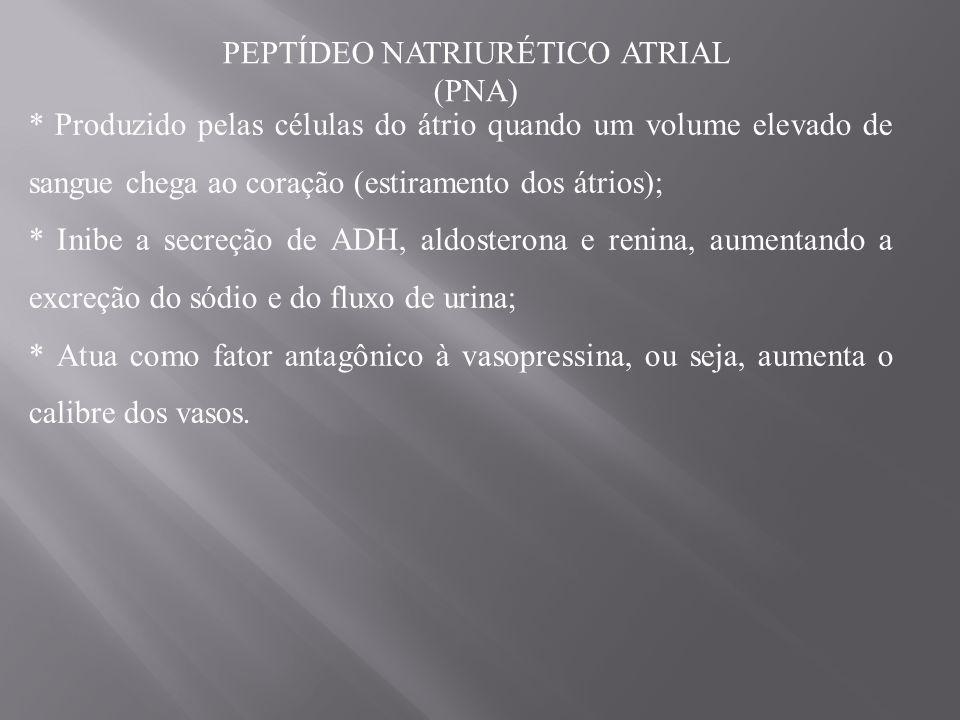 PEPTÍDEO NATRIURÉTICO ATRIAL (PNA)