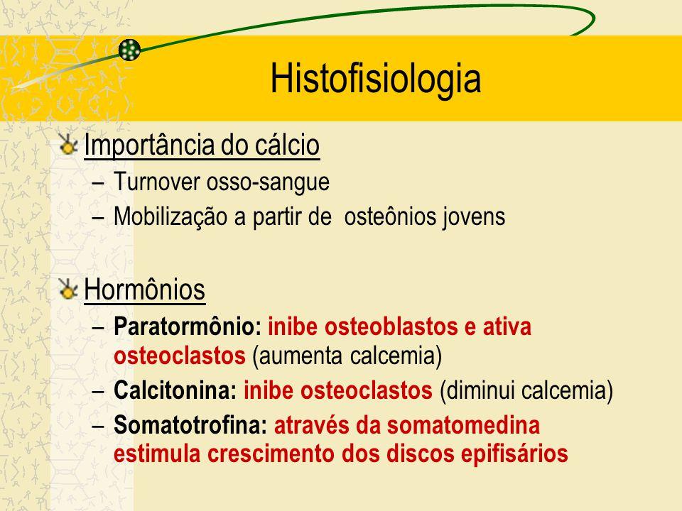 Histofisiologia Importância do cálcio Hormônios Turnover osso-sangue