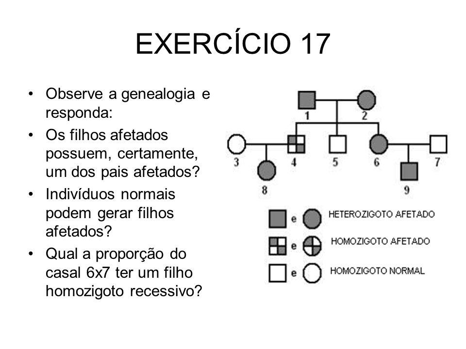 EXERCÍCIO 17 Observe a genealogia e responda: