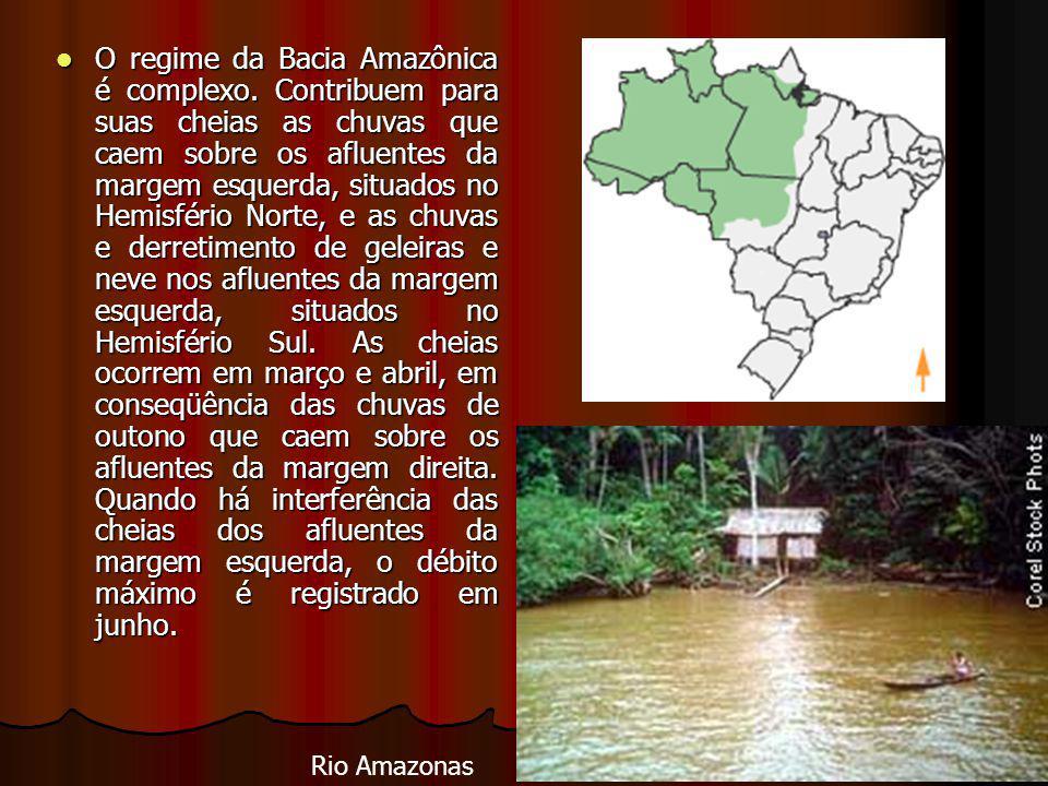 O regime da Bacia Amazônica é complexo