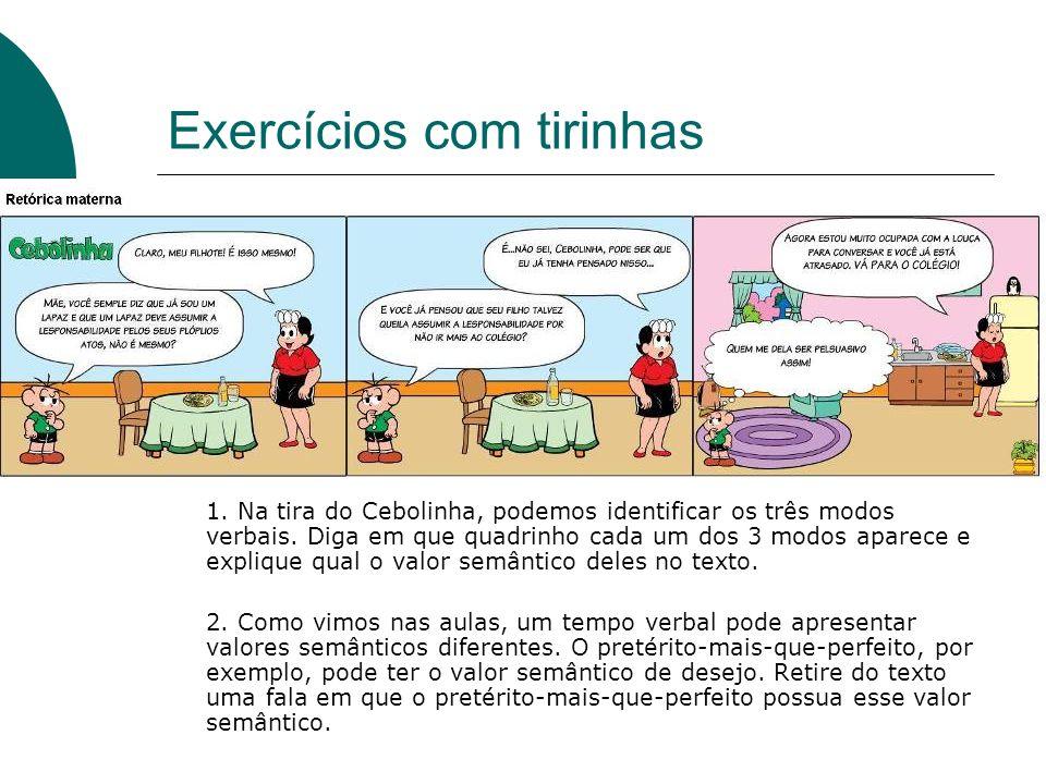 Exercícios com tirinhas