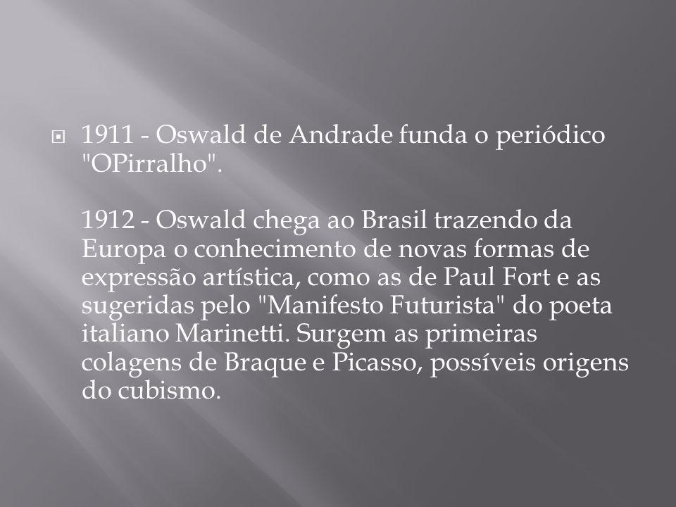 1911 - Oswald de Andrade funda o periódico OPirralho