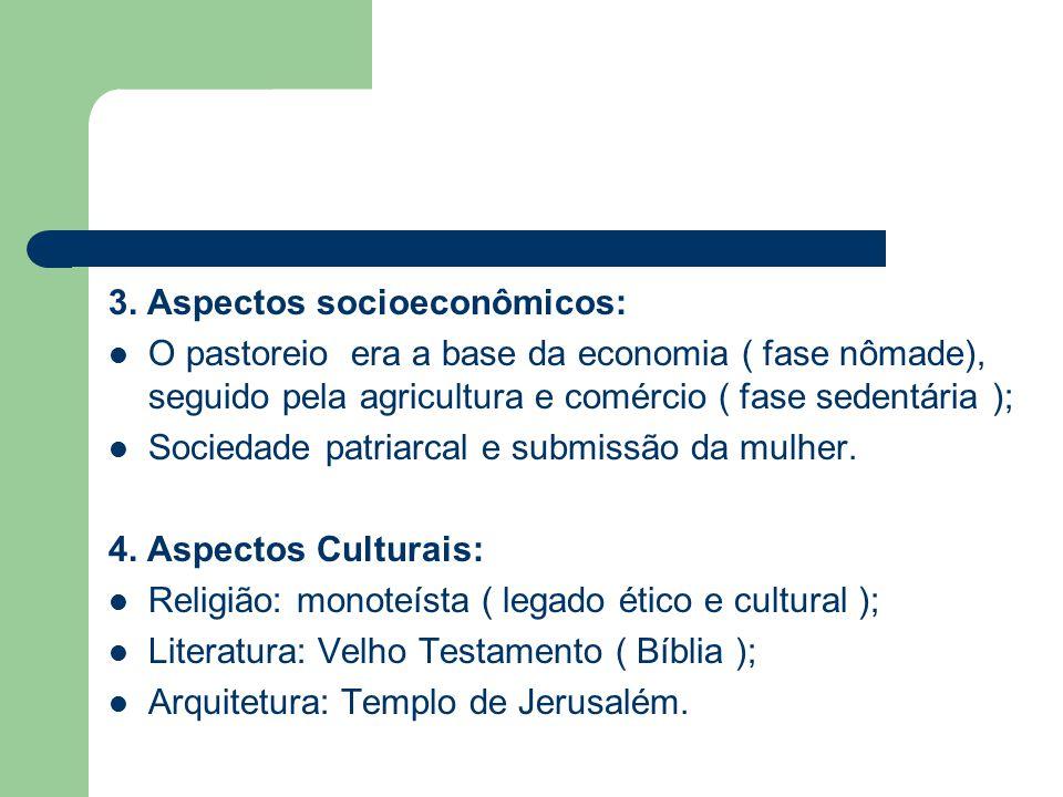 3. Aspectos socioeconômicos: