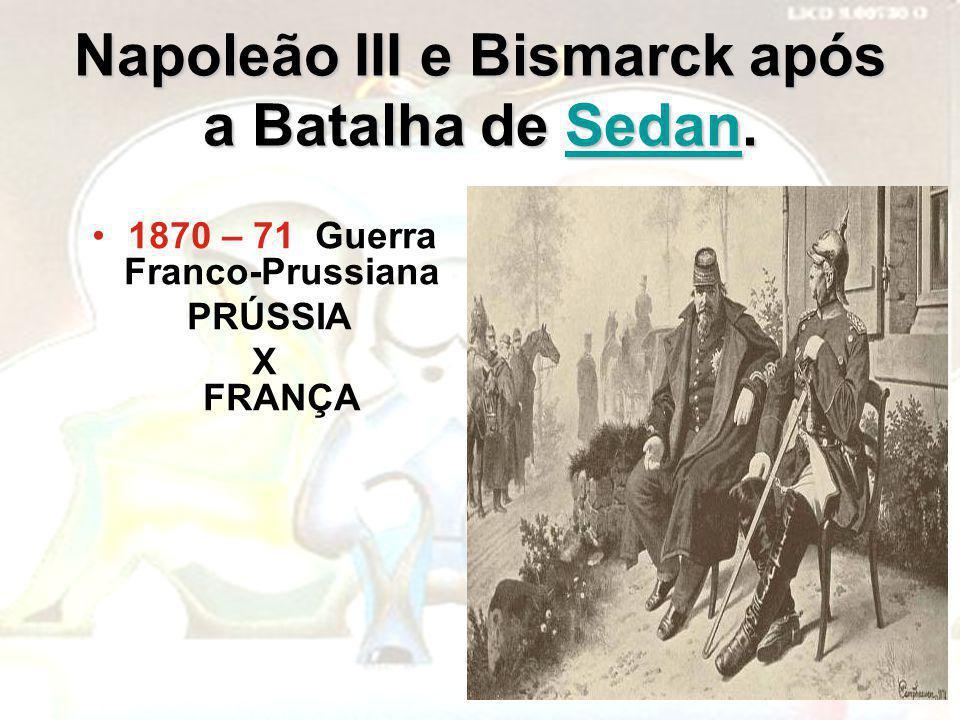 Napoleão III e Bismarck após a Batalha de Sedan.