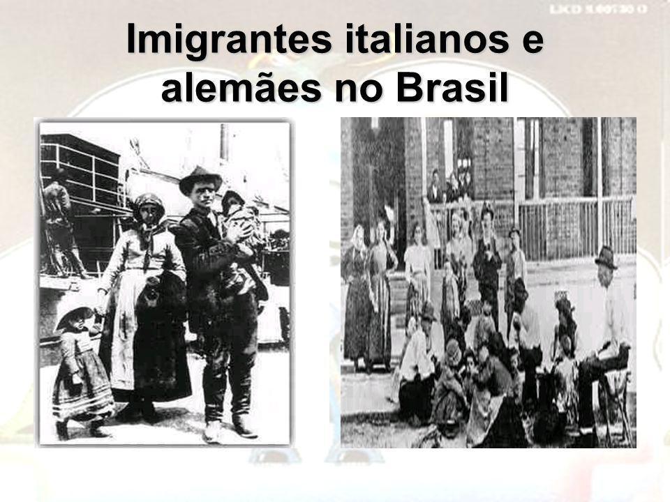 Imigrantes italianos e alemães no Brasil