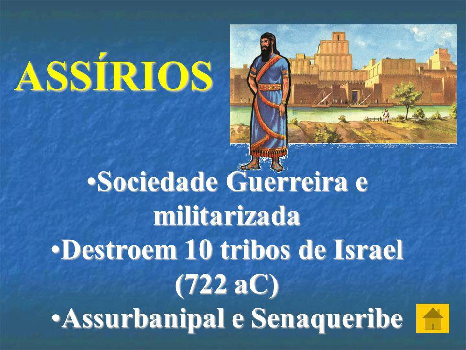 ASSÍRIOS Sociedade Guerreira e militarizada