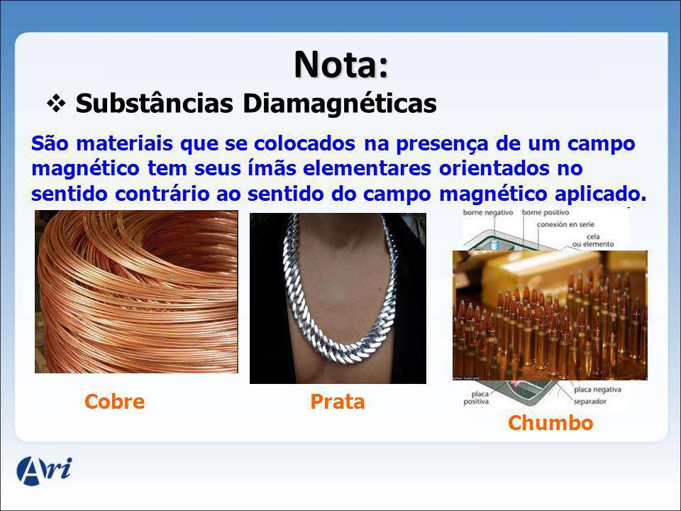 Substâncias Diamagnéticas