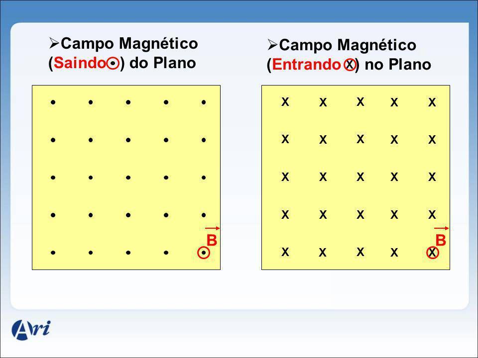 Campo Magnético (Saindo ) do Plano