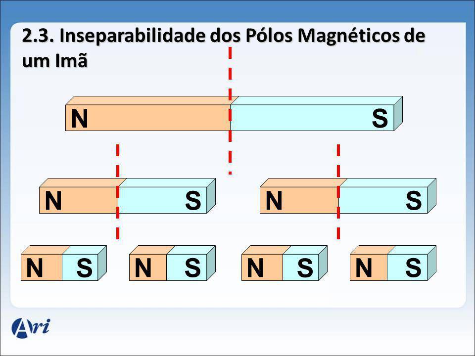 2.3. Inseparabilidade dos Pólos Magnéticos de um Imã