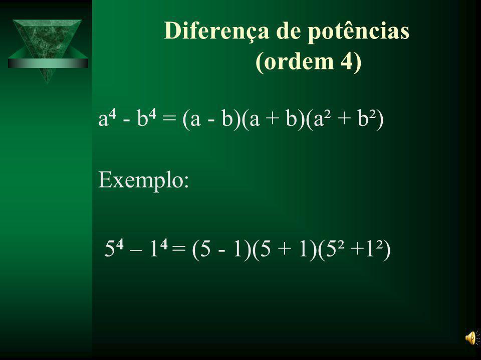 Diferença de potências (ordem 4)