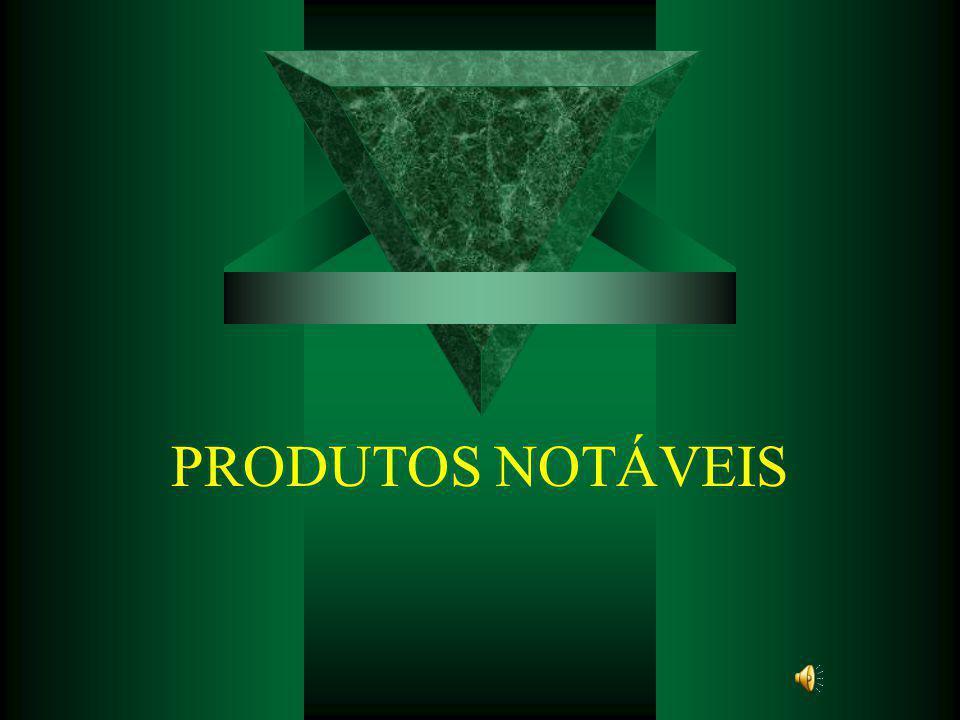 PRODUTOS NOTÁVEIS
