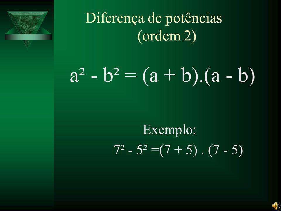 Diferença de potências (ordem 2)