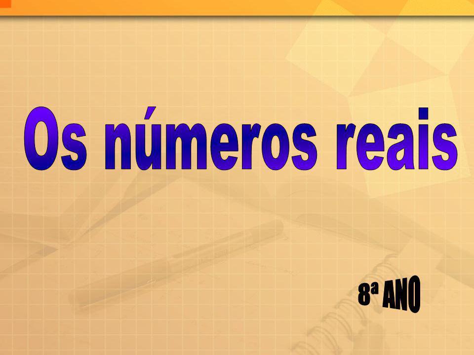 Os números reais 8ª ANO