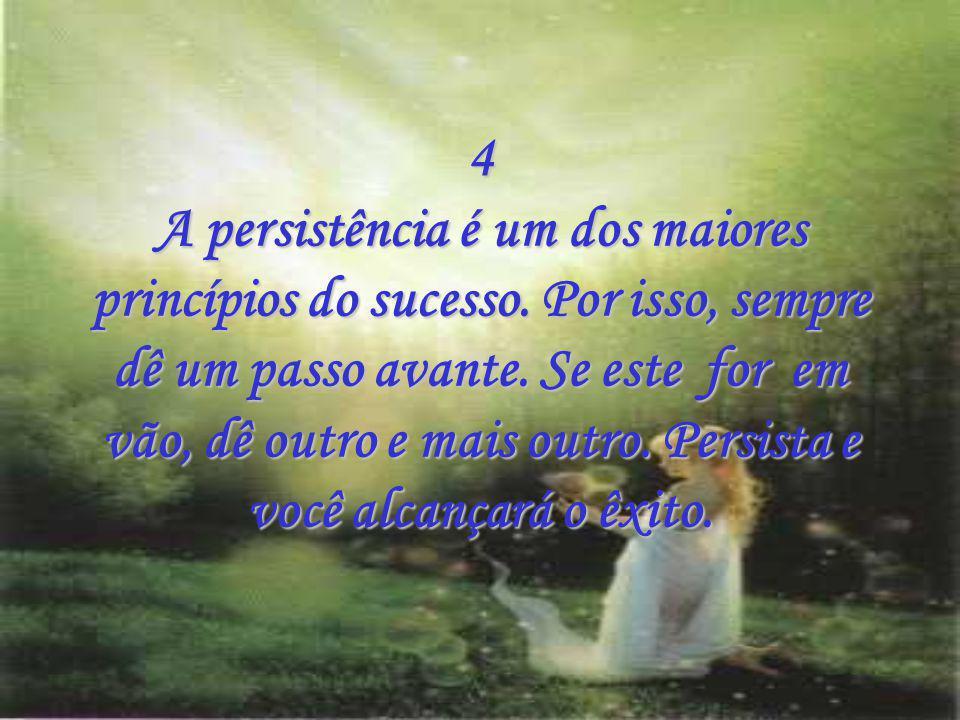 4 A persistência é um dos maiores princípios do sucesso
