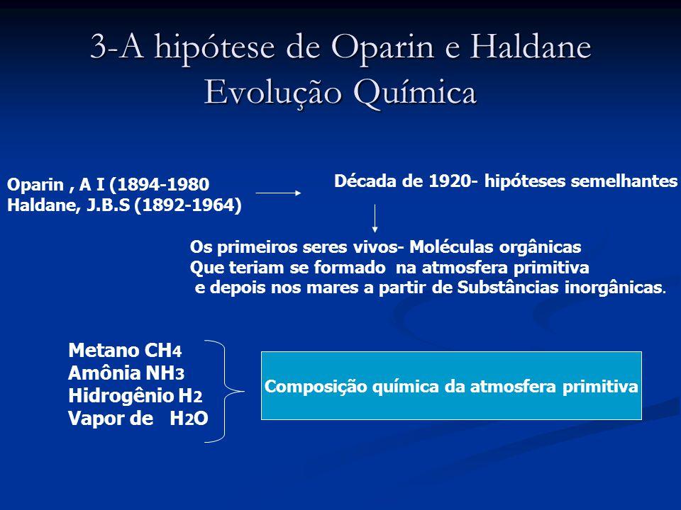 3-A hipótese de Oparin e Haldane Evolução Química