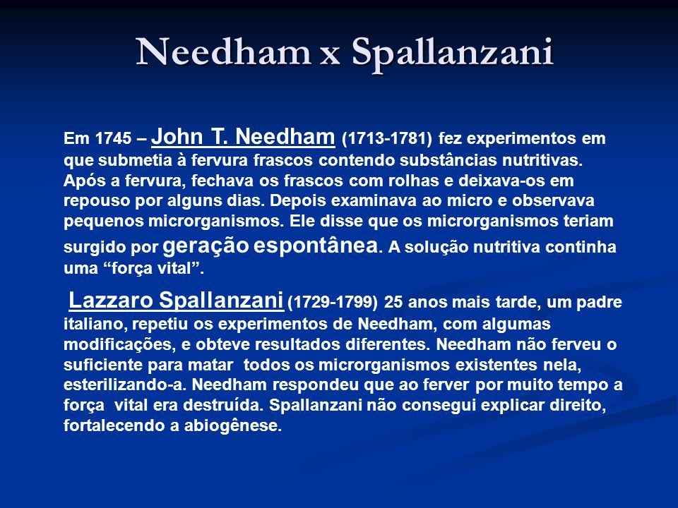 Needham x Spallanzani