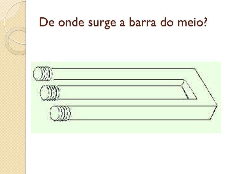 De onde surge a barra do meio