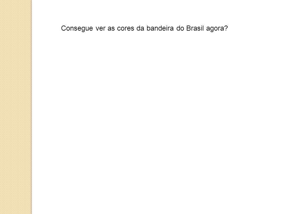 Consegue ver as cores da bandeira do Brasil agora