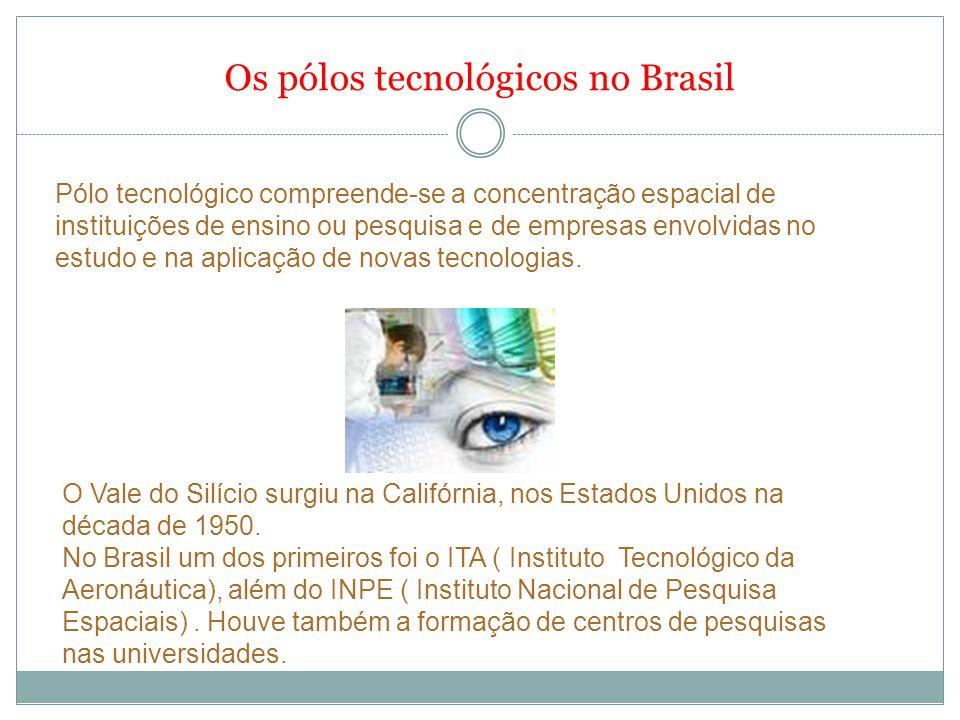 Os pólos tecnológicos no Brasil