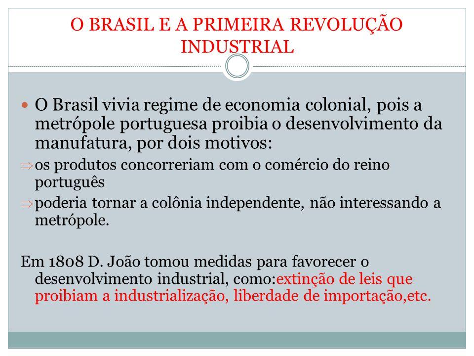 O BRASIL E A PRIMEIRA REVOLUÇÃO INDUSTRIAL