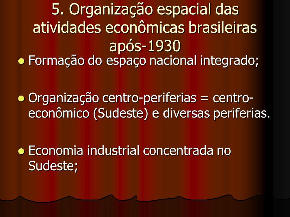5. Organização espacial das atividades econômicas brasileiras após-1930