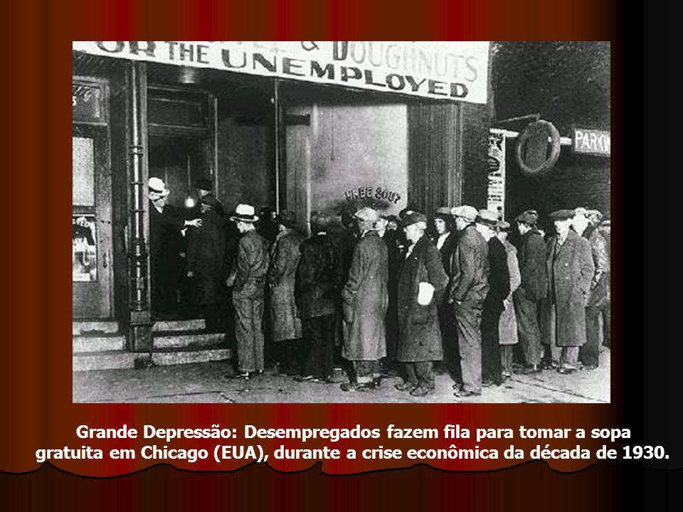 Grande Depressão: Desempregados fazem fila para tomar a sopa