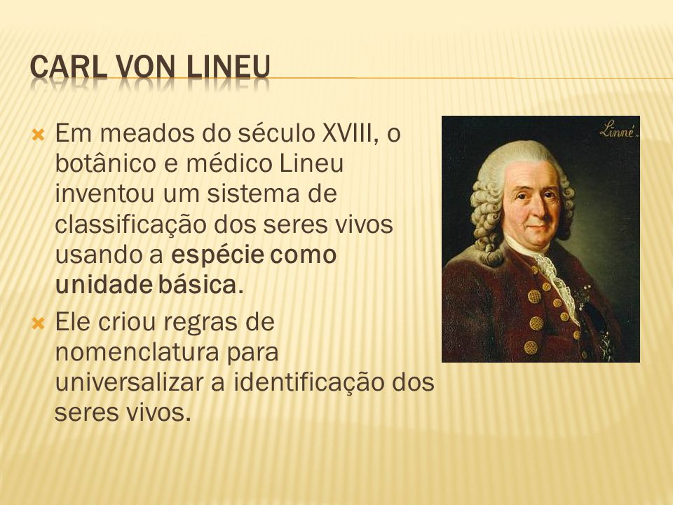 Carl von lineu