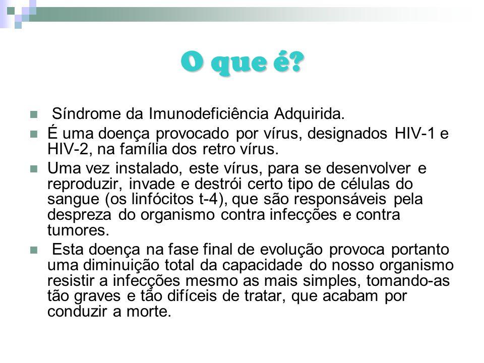 O que é Síndrome da Imunodeficiência Adquirida.