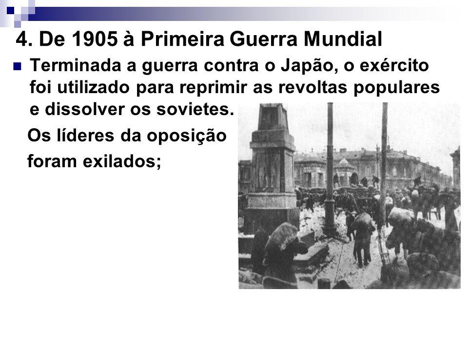 4. De 1905 à Primeira Guerra Mundial