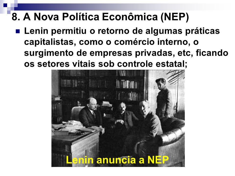 8. A Nova Política Econômica (NEP)