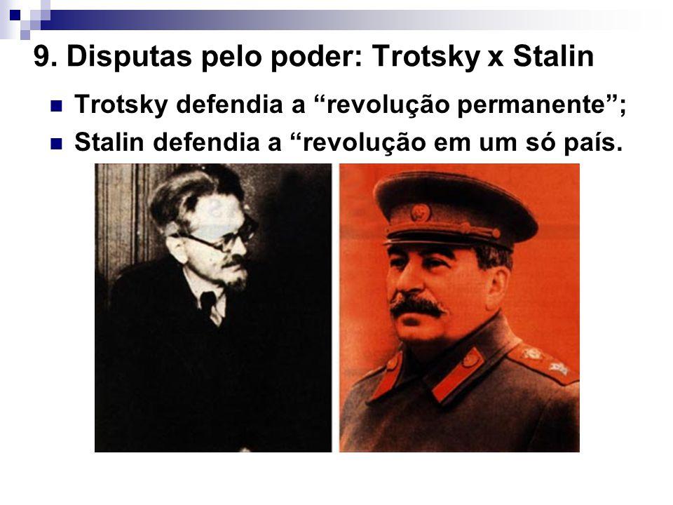 9. Disputas pelo poder: Trotsky x Stalin
