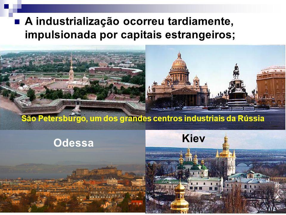 São Petersburgo, um dos grandes centros industriais da Rússia