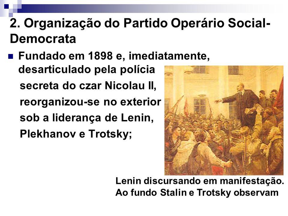 2. Organização do Partido Operário Social-Democrata
