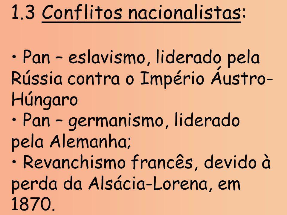 1.3 Conflitos nacionalistas: