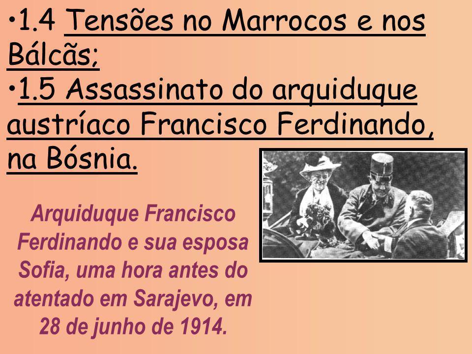 1.4 Tensões no Marrocos e nos Bálcãs;