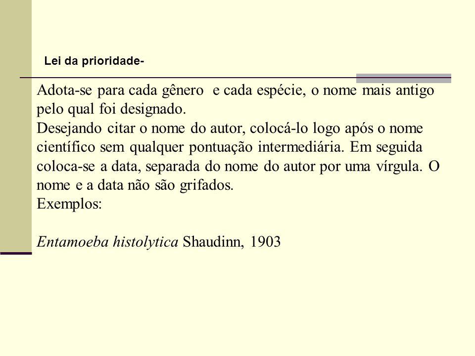 Entamoeba histolytica Shaudinn, 1903
