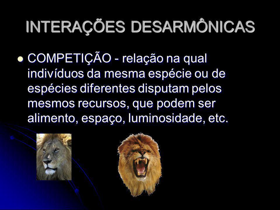 INTERAÇÕES DESARMÔNICAS