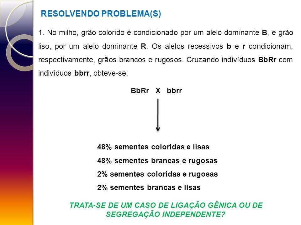 TRATA-SE DE UM CASO DE LIGAÇÃO GÊNICA OU DE SEGREGAÇÃO INDEPENDENTE