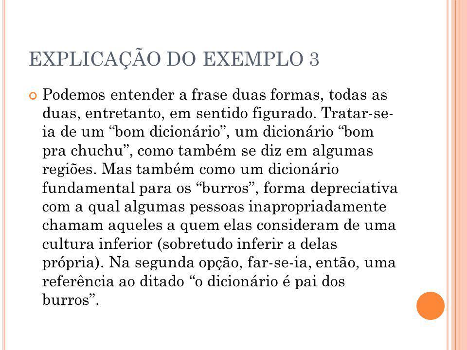 EXPLICAÇÃO DO EXEMPLO 3