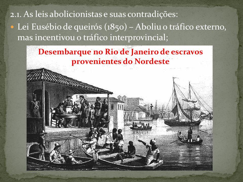 Desembarque no Rio de Janeiro de escravos provenientes do Nordeste