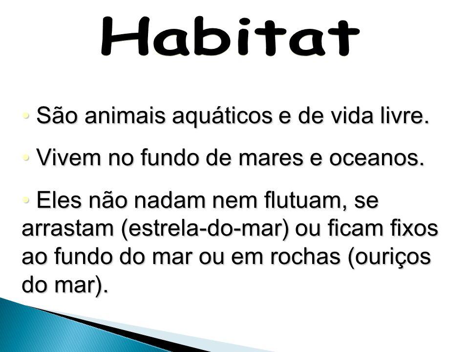 Habitat São animais aquáticos e de vida livre.