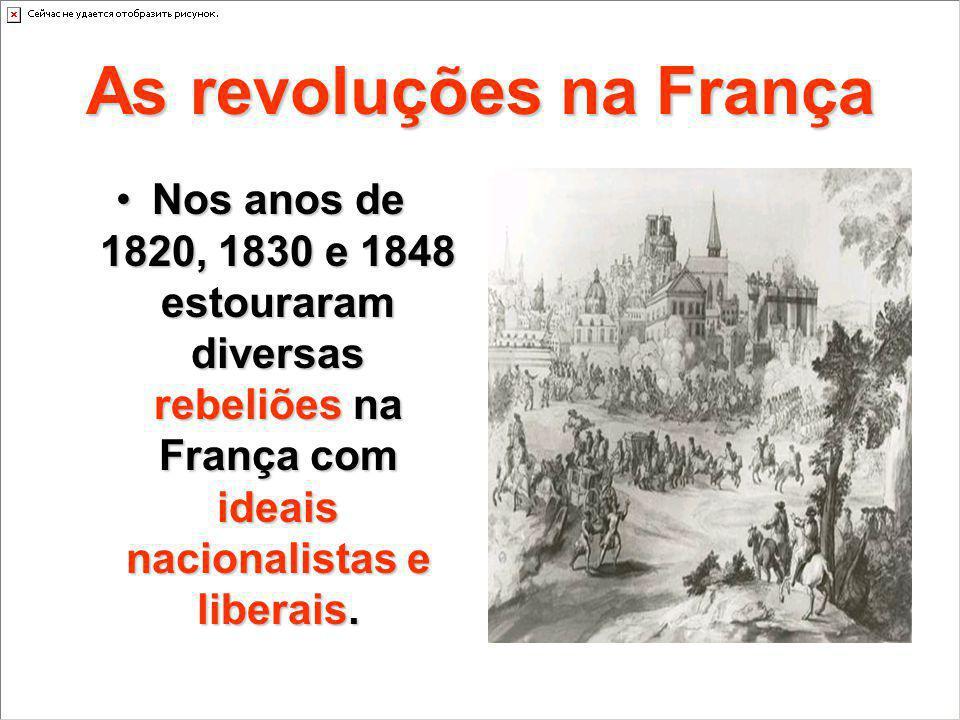 As revoluções na França